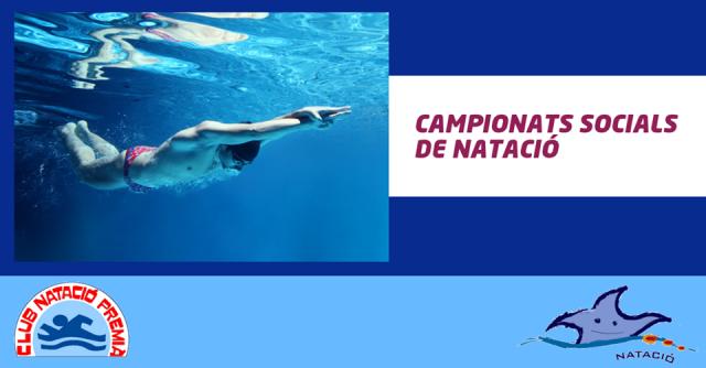 Campionats Socials de Natació: Taules de Resultats