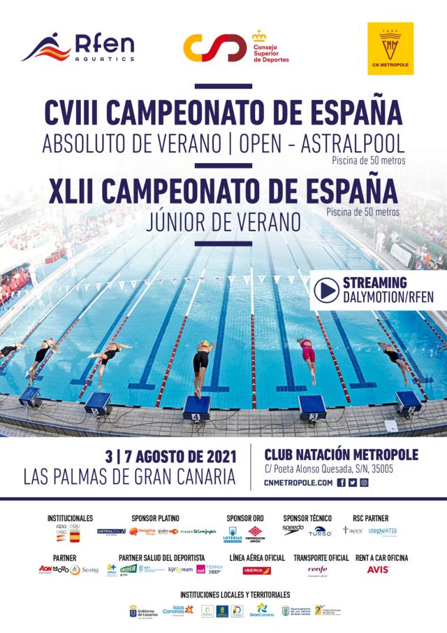 CVIII Campeonato de España Absoluto de Verano – Open Astralpool i XLII Campeonato de España Júnior de Verano